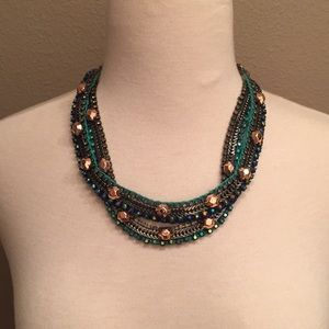 Stella & Dot Jeweled Multi Color Necklace